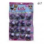 Кукла сюрприз LOL Фиолетовые на листе 16 шт. по 108 руб.