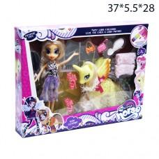 Набор кукла + пони с аксессуарами