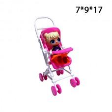 Кукла лол в коляске