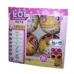 Кукла сюрприз LOL PETS в шарике 4шт. 3 серия.