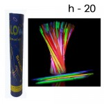 Светящиеся палочки в Тубусе 50 шт. цвета ассортименте