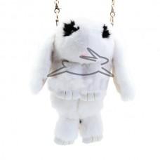 Сумка - рюкзак Белый  (натр. мех)