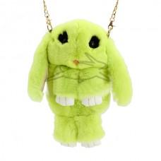 Сумка - рюкзак Зеленая (натур. мех)