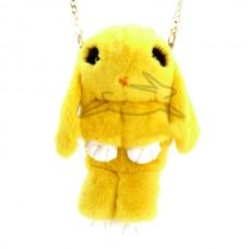 Сумка - рюкзак Желтая (натур. мех)