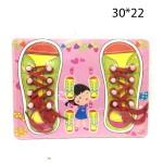 Деревянный игровой набор Тапочки со шнурками