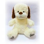 Мягкая игрушка Собака светло-коричневая