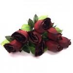 Роза штучная (Красная)  1шт.