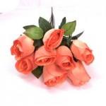Роза штучная (Оранжевая)  1шт.