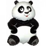 Шар (13/33 см) Мини-фигура, Большая панда, Белый, 1 шт.