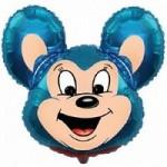 Шар (30/76 см) Фигура, Могучая мышь, Синий, 1 шт