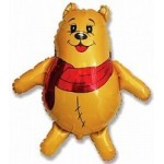 Шар (33/84 см) Фигура, Медвежонок, Желтый, 1 шт.