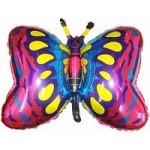 Шар (35/89 см) Фигура, Бабочка, Фуше, 1 шт