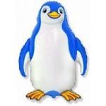 Шар (32/81 см) Фигура, Счастливый пингвин, Синий, 1 шт.