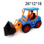 Трактор с копателем инерционный в пакете