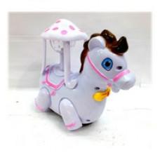 Лошадь карусель с проектором музыкальная, светящаяся