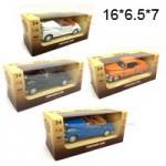 Модельки Ретро машины металлические в коробке