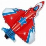Шар (39/99 см) Фигура, Истребитель, Красный, 1 шт.