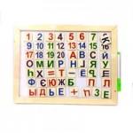 Доска и азбука деревянная (мал)