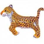 Шар (14/36 см) Мини-фигура, Леопард, Синий, 1 шт.