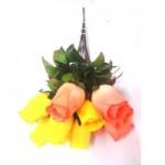 Роза штучная (Желтая)  1шт.