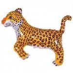 Шар (14/36 см) Мини-фигура, Леопард, Черный, 1 шт.