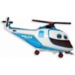 Шар (38/97 см) Фигура, Полицейский вертолет, 1 шт.