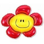 Шар (41/104 см) Фигура, Солнечная улыбка, Красный, 1 шт.