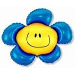 Шар (41/104 см) Фигура, Солнечная улыбка, Синий, 1 шт.
