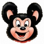 Шар (14/36 см) Мини-фигура, Могучая мышь, Черный, 1 шт.
