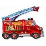 Шар (14/36 см) Мини-фигура, Пожарная машина, Красный, 1 шт.