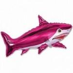 Шар (42/107 см) Фигура, Страшная акула, Фуше, 1 шт.