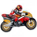 Шар (12/30 см) Мини-фигура, Мотоцикл, Оранжевый, 1 шт.