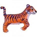 Шар (14/36 см) Мини-фигура, Тигр, Синий, 1 шт.