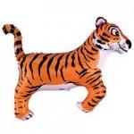 Шар (14/36 см) Мини-фигура, Тигр, Черный, 1 шт.
