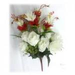 Композиция с белыми розами  1шт.