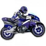 Шар (12/30 см) Мини-фигура, Мотоцикл, Синий, 1 шт.