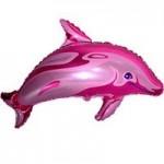 Шар (15/38 см) Мини-фигура, Дельфин фигурный, Фуше, 1 шт.