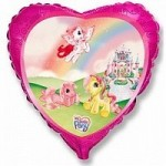 Шар (18'46 см) Сердце, Моя маленькая пони в замке, Розовый, 1 шт.