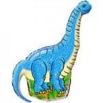Шар (16/41 см) Мини-фигура, Динозавр диплодок, Синий, 1 шт.