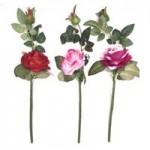 Роза штучная в ассортименте  1шт.