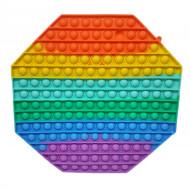 Антистресс пупырка Попит (Pop It) Октагон радуга ,большой