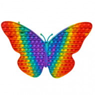 Антистресс пупырка Попит (Pop It) Бабочка радуга ,большой