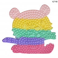 Антистресс пупырка Попит (Pop It) Мишка сидячий цветной