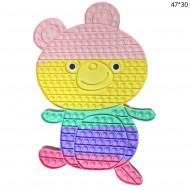 Антистресс пупырка Попит (Pop It) Мишка цветной