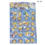 Фигурки на листе (Pokemon)