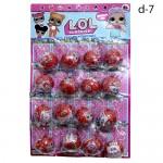 Кукла сюрприз LOL Красные на листе 16 шт. по 84 руб.
