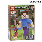 Конструктор (Minecraft  ) человек синий
