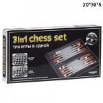 Игра магнитные  шахматы   3в1 средние
