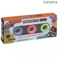 Магнитные кольца Magic Ring антистрессовая игрушка (Magnetic Rings), 3 шт.