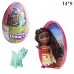 Кукла в яйце Моана, сюрприз с питомцем